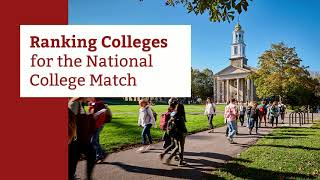 Ranking Colleges for the National College Match