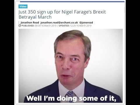 Brexit Farce: just 350 turn out for Farage's Brexit march and ferry fiasco continues