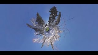 Rock & Snow: Extreme snowmobile race through Sheregesh, Russia (360 Video)