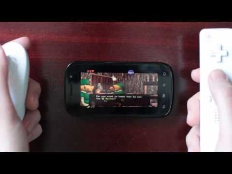 N64oid, N64 emulator for Android - Ocarina of Time gameplay