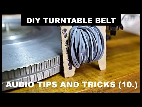 How to make the DIY turntable belt at home Plattenspieler Riemen - AUDIO TIPS AND TRICKS (10.)