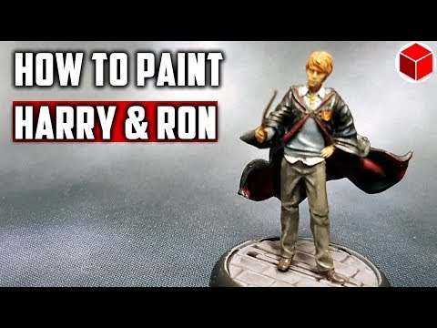 How To Paint Harry Potter and Ron Weasley - Harry Potter Miniatures Adventure Game