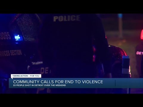 Community calls for end to violence in Detroit