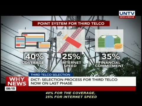 [UNTV]  DICT: Selection process for third telco now on last phase
