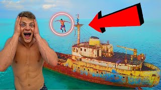 INSANE FLIPS OFF A SHIPWRECK! *BAD IDEA*