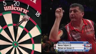 WATCH Mensur Suljovic took on Michael van Gerwen in the final of