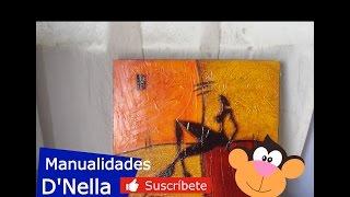 """Manualidades: """"Cuadros Abstractos 02"""" - By: """"Taller Dnella''  2013"""