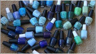 Blue & Green Nail Polish De Clutter! 2017