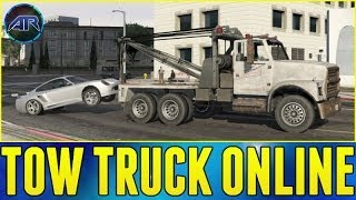 Grand Theft Auto 5 Online : How To Get A Tow Truck in GTA Online