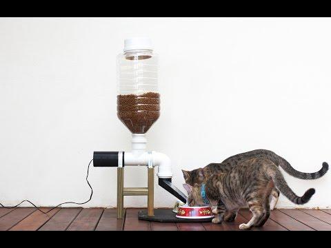 Comedouro automático 2.0 com rosca infinita para ração de gato ou cachorro