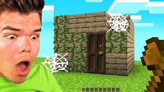 VISITING My 10 YEAR OLD MINECRAFT HOUSE!
