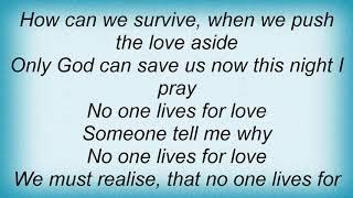 Anthony Callea - Live For Love Lyrics