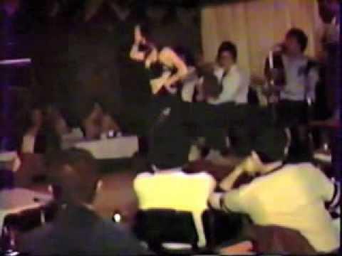 Nabila belly dancing at Arabic Nightclub 1980s