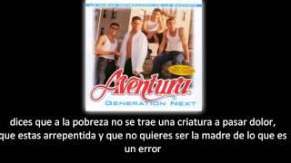 Aventura - No lo perdona Dios (lyric -  letra)
