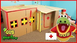 BOX FORT CHALLENGE! Family Fun activity Build with Cardboard!