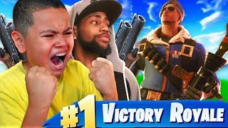 10 YEAR OLD KID PLAYS LIKE DAEQUAN!!! HE BREAKS PERSONAL RECORD KILLS! FORTNITE BATTLE ROYALE!