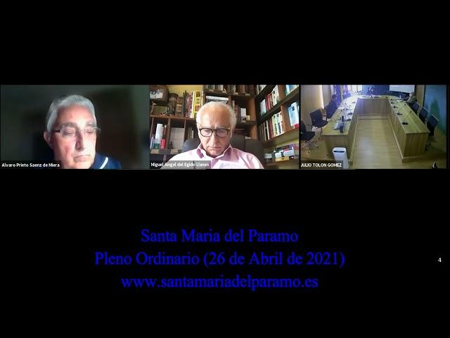 Pleno Ordinario (26 abril de 2021)