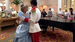 Cinderella and Prince Charming lead The Princess Promenade at Disney's Grand Floridian