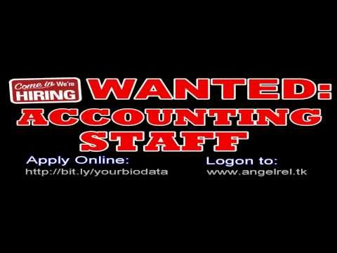 mp4 Hiring For Accounting Staff, download Hiring For Accounting Staff video klip Hiring For Accounting Staff