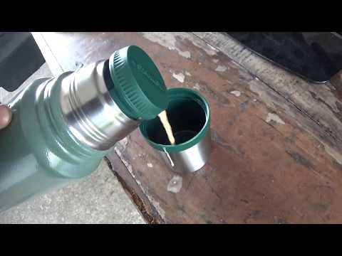 review of stanley steel green thermos for coffee test made in china 2017
