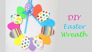 DIY Easter Wreath | Easter Eggs Home Decor | Paper Decorations | Easy Paper Crafts