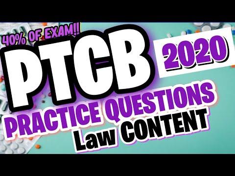 UPDATED PTCB 2020-2021 PHARMACY LAW PRACTICE ...