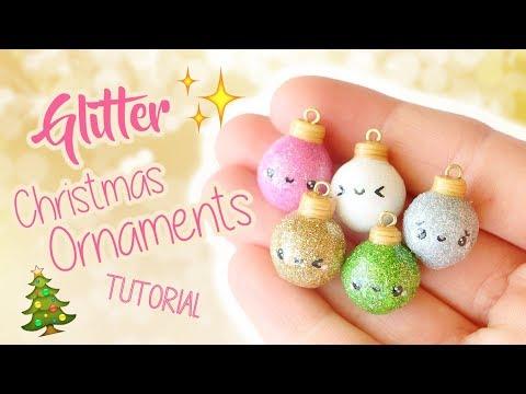 Kawaii Glitter Christmas Ornaments│Polymer Clay Tutorial