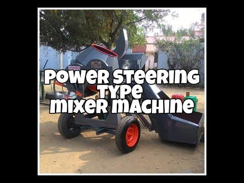 Power Steering Type Mixer Machine