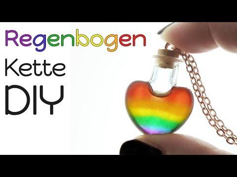 Regenbogen Herz Kette DIY | #ehefüralle | Resin Tutorial | Halskette mit Gießharz Anleitung