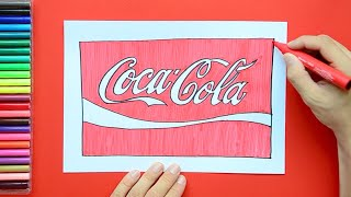 How to draw the Coca Cola logo