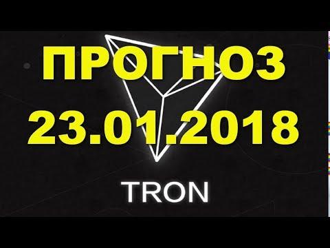 TRX/USD — TRON прогноз цены / график цены на 23.01.2018 / 23 января 2018 года