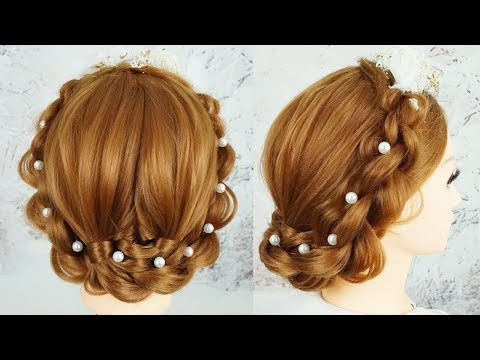 Latest Bridal Hairstyles 2019 Wedding Bun Hairstyle