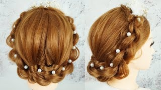 Latest Bridal Hairstyles 2019 - Wedding Bun Hairstyle Tutorial Easy | Easy Hair Style For Long Hair