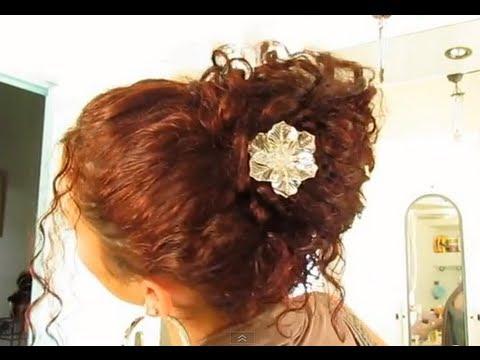 Choux Chignon Romantique Facile Rapide Sur Cheveux Boucles Frises Actus Blog Filles