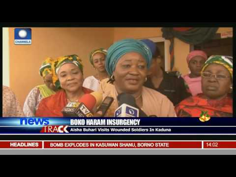 Insurgency: Aisha Buhari Visits Wounded Soldiers In Kaduna