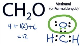 CH2O Lewis Structure - How to Draw the Dot Structure for CH2O