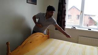How to cut Memory Foam mattress to Single size