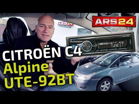 Autoradio im Citroen C4 (Typ L) einbauen   Alpine ersetzt Originalradio   ARS24