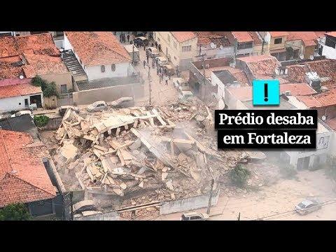 Prédio desaba em Fortaleza; veja os primeiros vídeos do local
