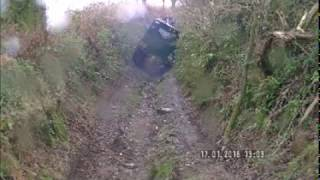 Series 3 Land Rover Tips Over On Cornish Byway – No Mans Land Looe