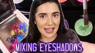 Mixing All My Eyeshadows Together - Video Youtube