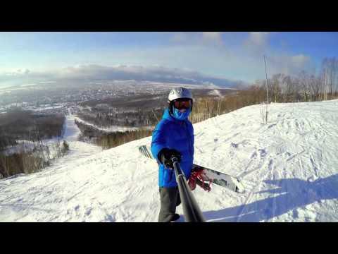 Видео: Видео горнолыжного курорта Горный Воздух в Сахалинская область