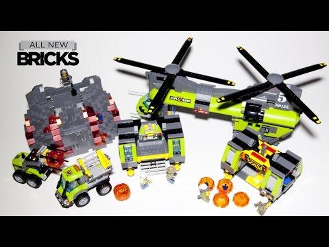 Vidéo LEGO City 60125 : L'hélicoptère de transport du volcan