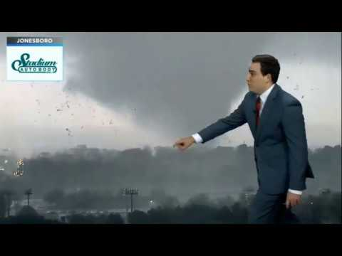 Jonesboro Tornado on Live TV (March 28, 2020)