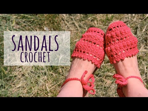 Tutorial Easy Crochet Sandals Woman