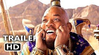 """ALADDIN """"Happy Genie"""" Trailer (NEW 2019) Will Smith, Disney Movie HD"""