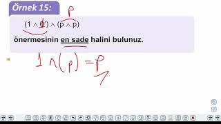 Eğitim Vadisi 9.Sınıf Matematik 1.Föy Mantık 2 Konu Anlatım Videoları