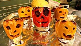 Jack O Lantern Stuffed Peppers - Halloween Recipe Edition
