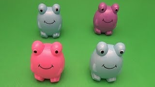 Surprise Egg Opening Matching Game for Kids! Fun Learning Contest! Frogs!