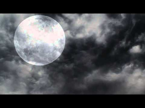 Halloween Full Moon And Night Clouds - Free motion background video 1080p HD stock video footage